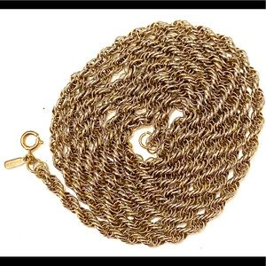 Monet Vintage Thick Gold Chain Necklace